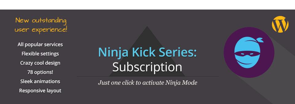 [FREE]Ninja Kick: Subscription WordPress Plugin